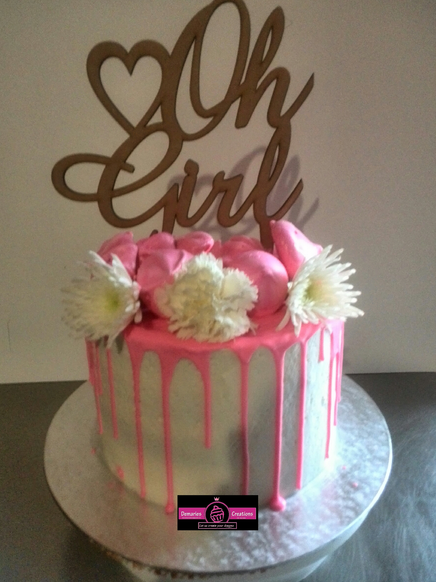 Chocolate Drip Baby Shower Cake