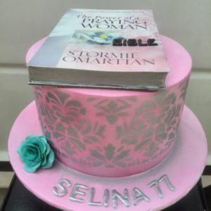 Stenciled book Cake