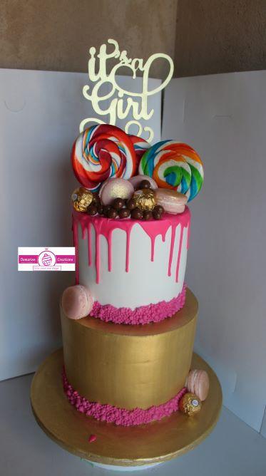 Sweet Fantasy Drip Baby Shower Cake