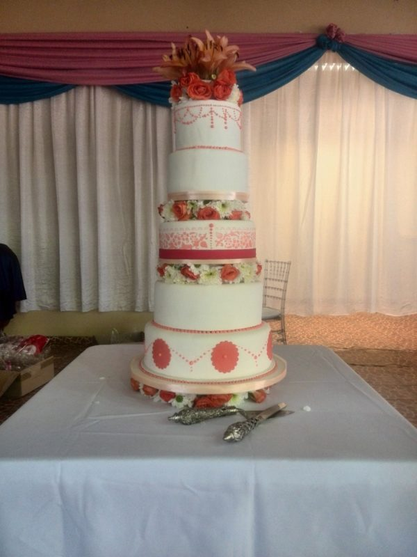 5tier Floral Fantasy Wedding Cake