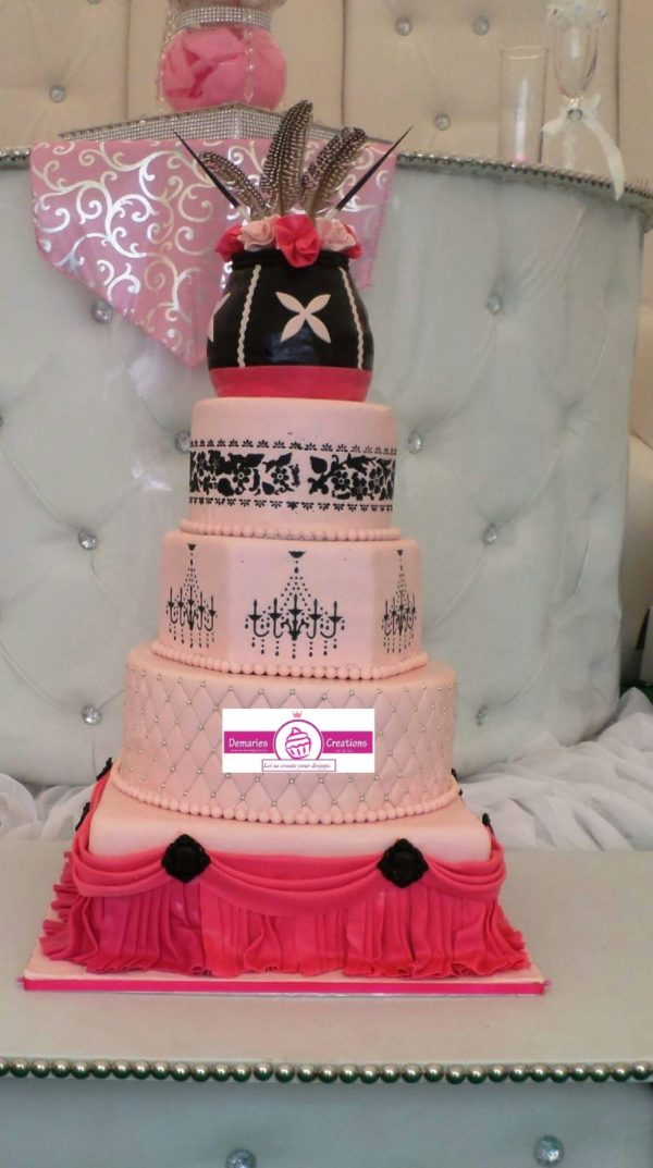 Modern meets Traditional Wedding Cake